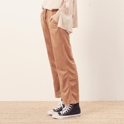 CACO-麂皮直筒長褲-女【NCH288】