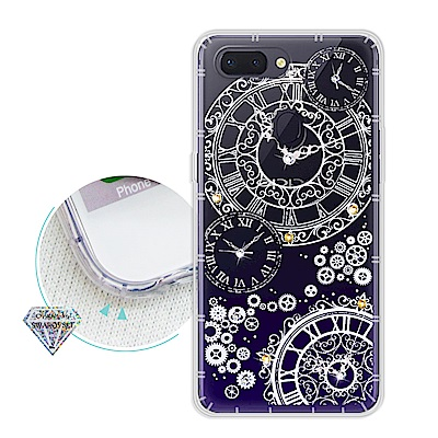 浪漫彩繪 OPPO R15 水鑽空壓氣墊手機殼(齒輪之星)