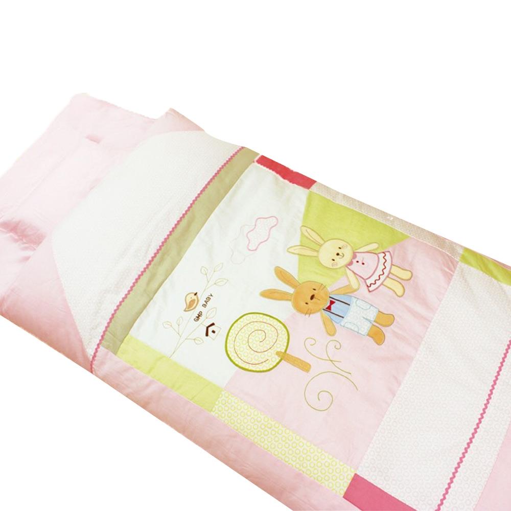 GMPBABY 童話兔抗蹣菌棉冬夏兩用幼童睡袋組~粉紅色1組