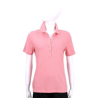 TORY BURCH 粉色釦式短袖POLO衫