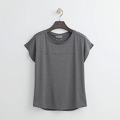 Hang Ten - 女裝 - ThermoContro假兩件機能T恤-灰色