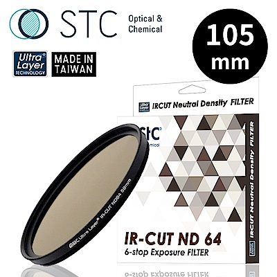 【STC】IR-CUT ND64 Filter 105mm 零色偏ND64減光鏡