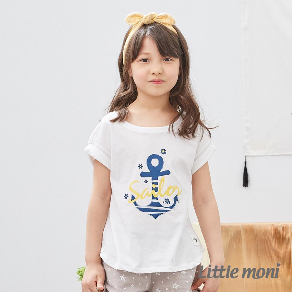 Little moni 船錨造型上衣 (2色可選)