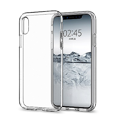 Spigen iPhone X Liquid Crystal-超輕薄型彈性保護殼