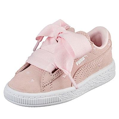PUMA-SuedeHeartValentinePS孩童鞋-珍珠色