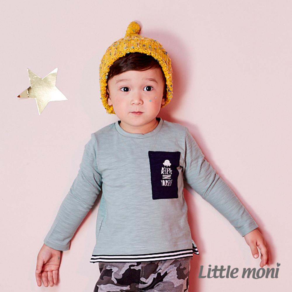 Little moni 太空梭印圖口袋上衣 (共2色)