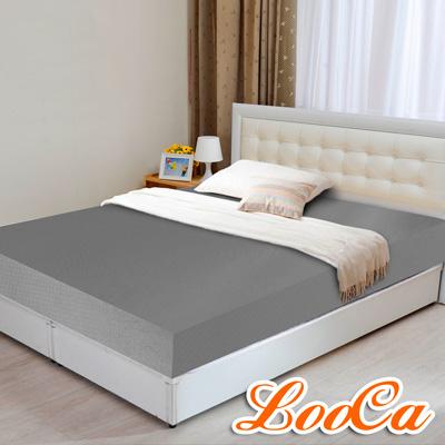 LooCa 黑絲絨竹炭12cm記憶床墊-加大6尺