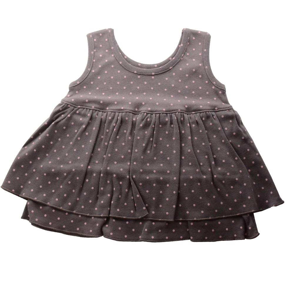 【Anna Nicola】日本製- 水玉點點雙層小洋裝(灰)