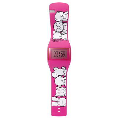o.d.m. Toy2R II 我的Qee系列腕錶-桃紅/43mm