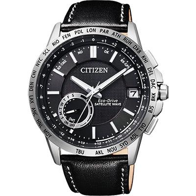 CITIZEN GPS光動能衛星對時萬年曆錶(CC3001-01E)-黑/44.5mm