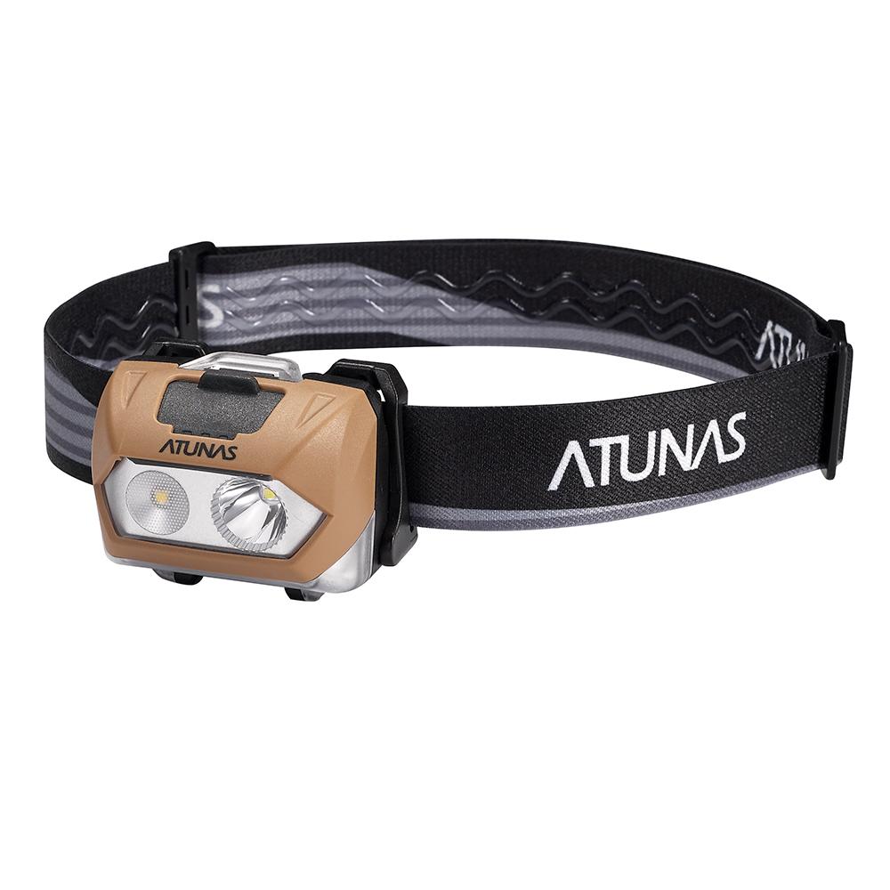 【ATUNAS 歐都納】超亮型雙光源頭燈 A-L1701 駝色