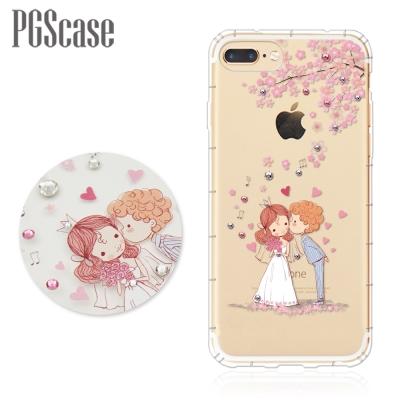 PGS iPhone 8/7 Plus 5.5吋奧地利彩鑽防摔手機殼-櫻花戀