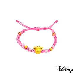 Disney迪士尼金飾 雀躍美妮黃金編織手鍊之三