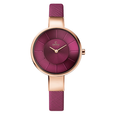 OBAKU 采麗時刻時尚腕錶-葡萄紫/32mm