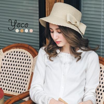 東京著衣-yoco 南法優雅蝴蝶結編織帽(共四色)