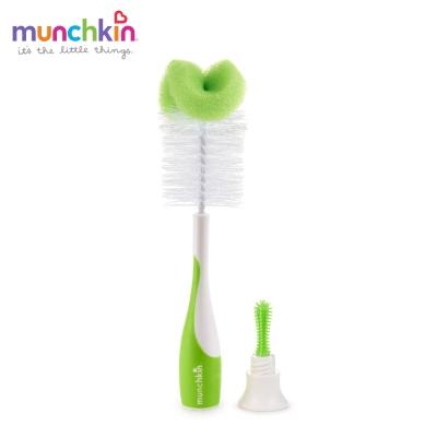 munchkin滿趣健-二合一奶瓶奶嘴刷-綠