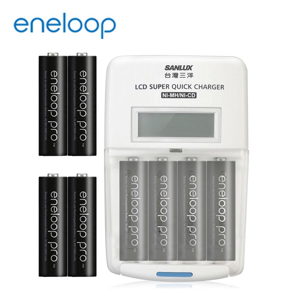 國際牌eneloop高容量充電電池組(旗艦型充電器+3號8入)