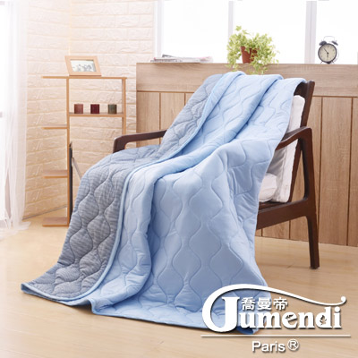 喬曼帝Jumendi 超涼感纖維針織涼被(5x6尺)-活力藍