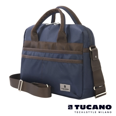 TUCANO Shine 13吋多功能手提肩背二用電腦包-藍