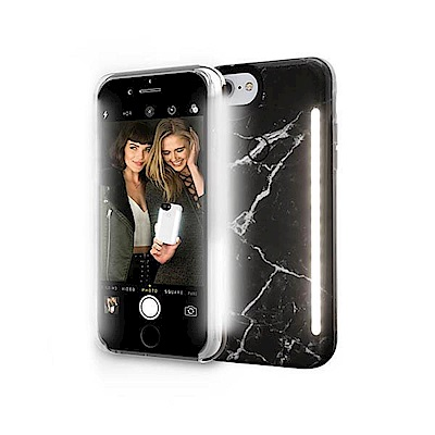 LUMEE Duo 大理石 雙面 LED 補光手機殼 iPhone 7+ 8+