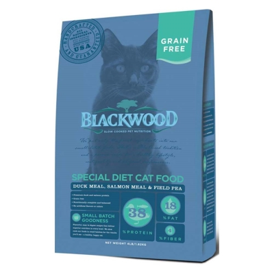 Blackwood柏萊富 特調無穀全齡貓配方(鴨肉+鮭魚+碗豆) 4lbs x 2包