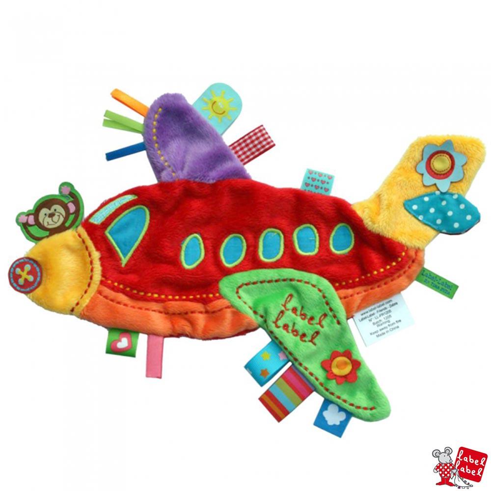 Label Label 比利時 飛機造型嬰兒安撫巾