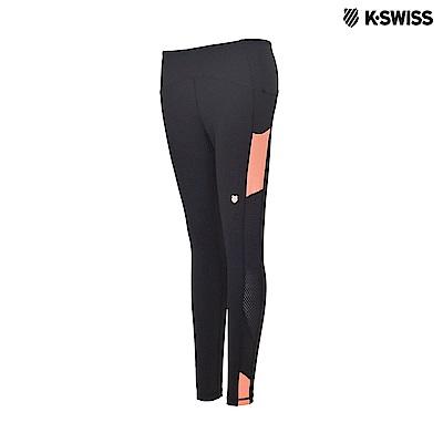 K-Swiss Tights With Mesh 運動內搭褲-女-黑