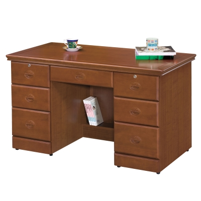 時尚屋 長榮樟木4.2尺書桌 寬126cm