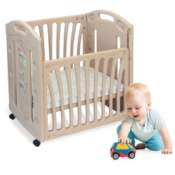 寶貝樂嚴選 浣熊嬰兒床(含高級床墊)