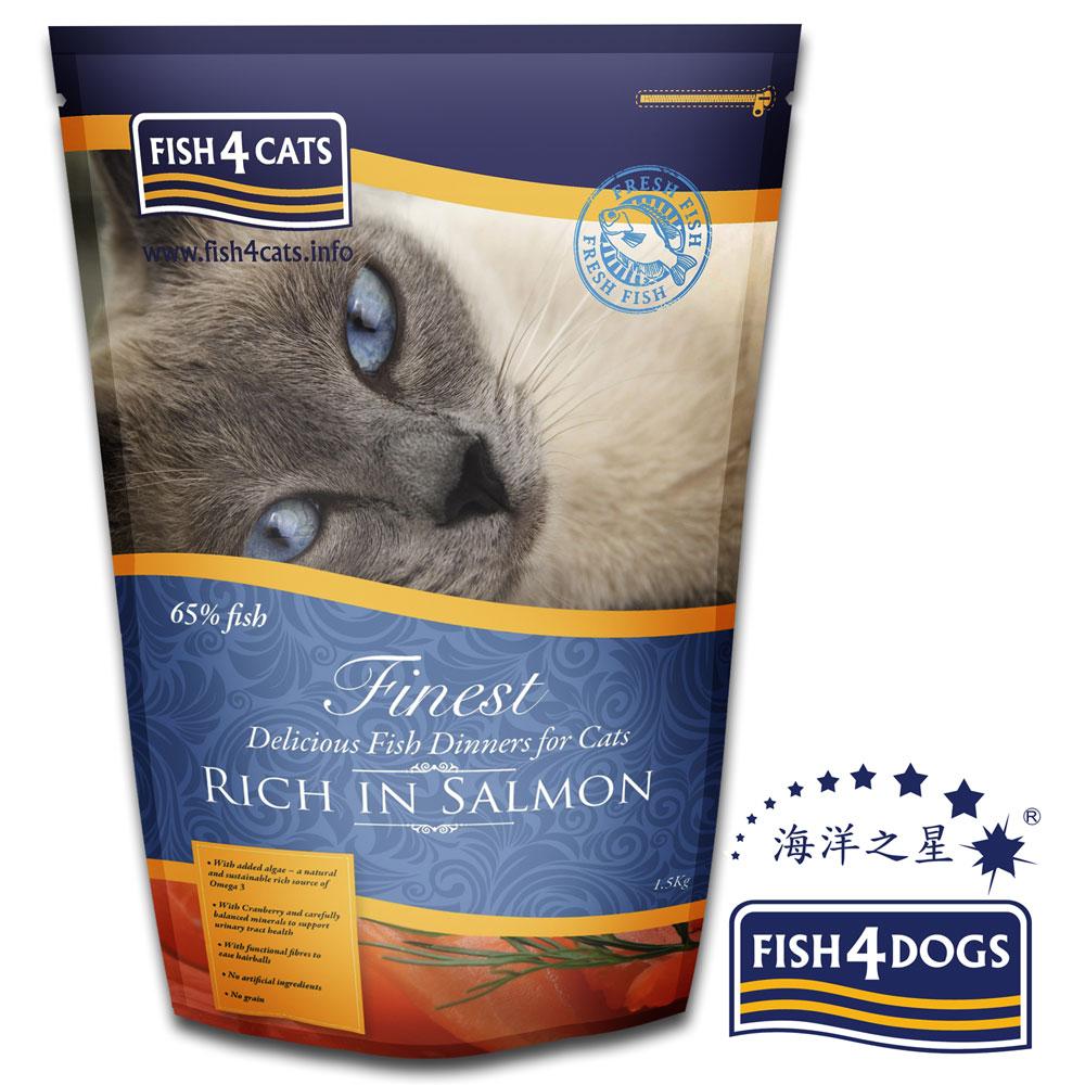 海洋之星FISH4CATS 鮭魚無麩質低敏配方1.5kg 全貓