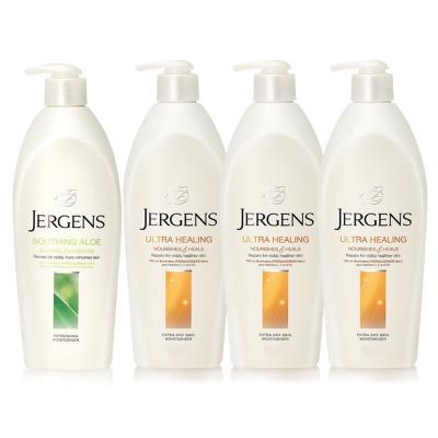 JERGENS珍柔 美體護膚保濕乳液650ml-蘆薈x1+長效配方x3