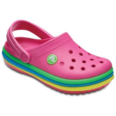 Crocs 卡駱馳(童鞋) 彩虹小卡駱班 205205-6NP