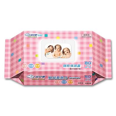 拭拭樂柔濕巾-隱形保濕蓋-80抽x12包-箱