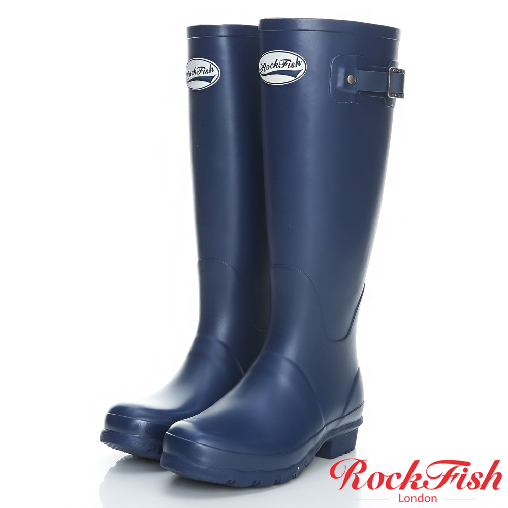 ROCKFISH 質感霧面長筒雨靴 酷色系列 丹寧藍