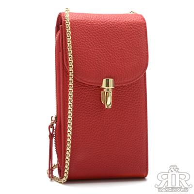 2R Chain belt牛皮手機鍊帶收納包 魅惑紅