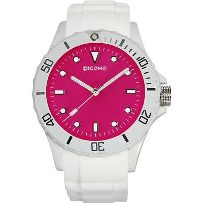 PICONO BALLOON COLOR 時尚腕錶-玫瑰紅/48mm