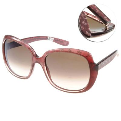 BOTTEGA VENETA太陽眼鏡 經典logo款/透紅#BV156S UVD02