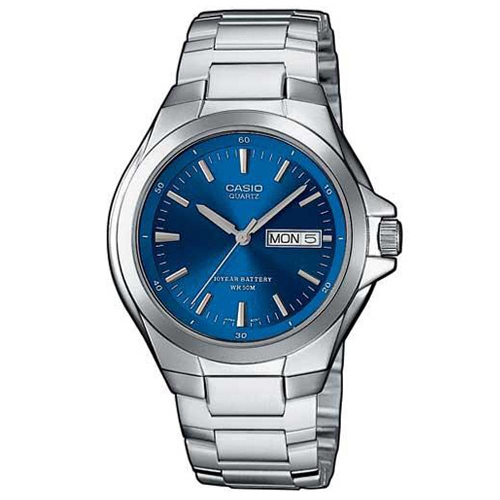 CASIO 經典復古型指針紳士錶(MTP-1228D-2A)-藍/40mm
