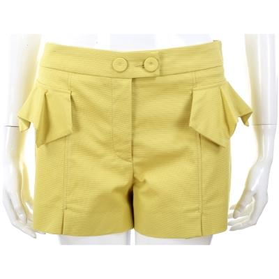 SCERVINO 檸檬黃荷葉裁片棉質短褲