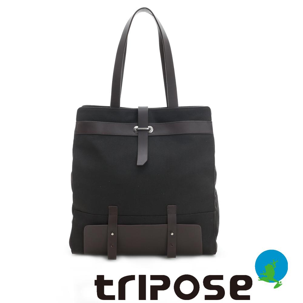 tripose 科技休閒系列微文青托特包 黑