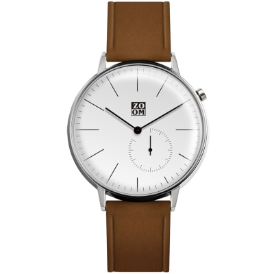 ZOOM Pure 生活觀察家極簡設計腕錶-白色44mm