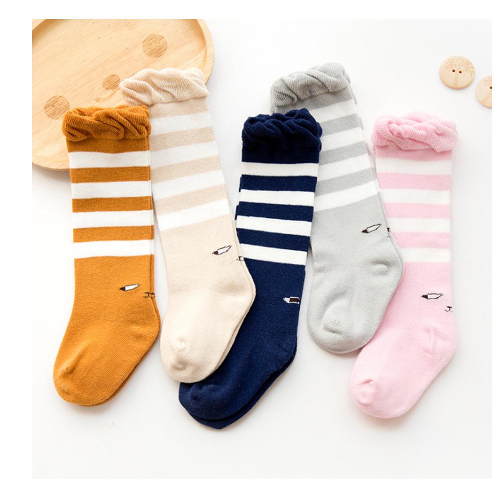 寶寶 泡泡口長筒襪3雙/組(隨機不挑色)
