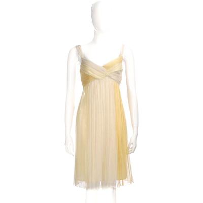 NINA 米黃色漸層雪紡紗洋裝