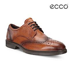 ECCO LISBON 雕花紳士商務正裝鞋-棕