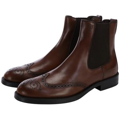 TOD'S 牛皮拼接設計中筒靴(男鞋)