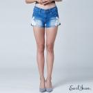 Earl Jean 蕾絲單寧短褲-中藍-女