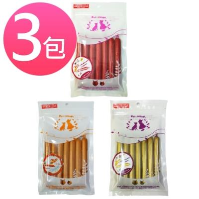 PetVillage魔法村 起司火腿條小香腸寵物零食 6條/包 (三包組)