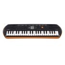 CASIO卡西歐 44鍵迷你電子琴兒童.幼兒適用SA-76(橘色含變壓器)