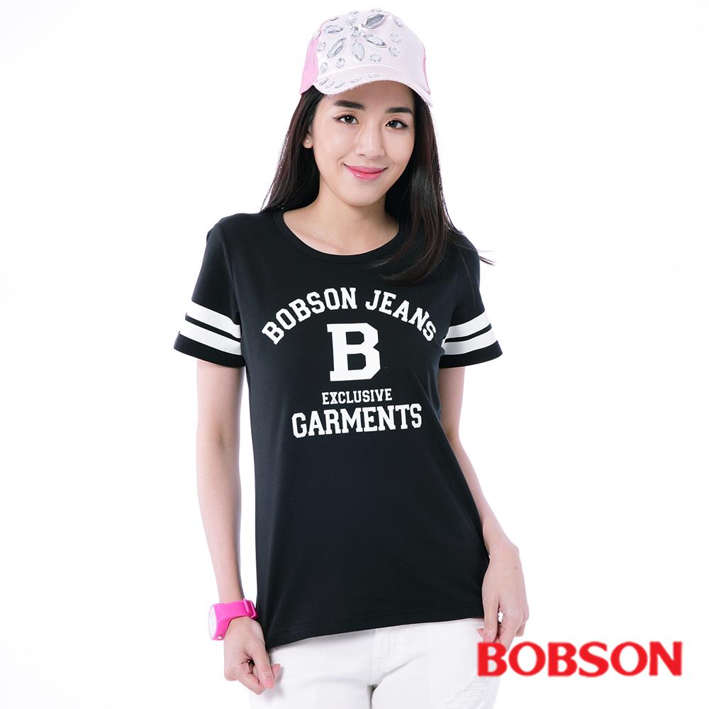 BOBSON  女款大B字母休閒上衣-黑色