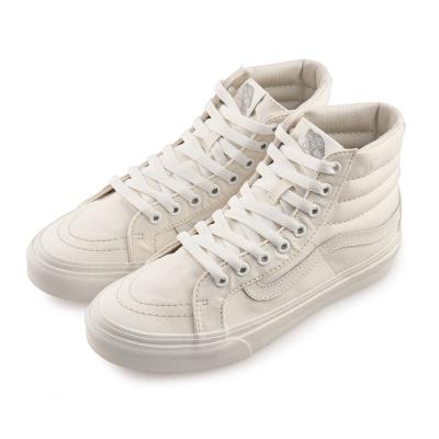 (女)VANS SK8-Hi 經典素色高筒休閒鞋*白色